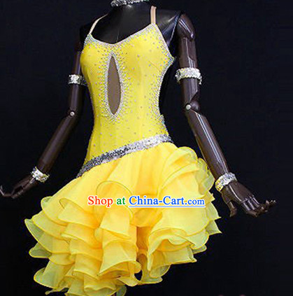 Professional Latin Competition Dancewear Costumes for Top Dancer