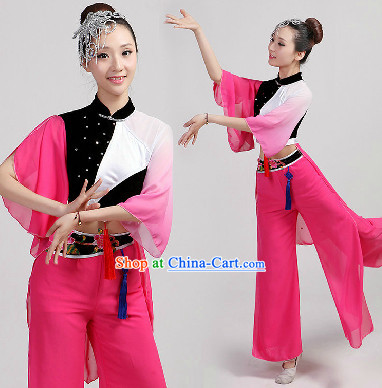 Traditional Chinese Magpie Dance Costumes and Headwear
