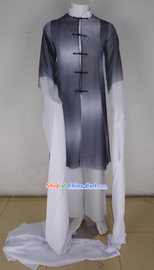 Traditional Chinese Mandarin Classical Dancing Clothes with Two Long Sleeves