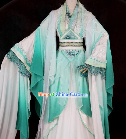 Ancient Chinese Yun Shui Yao Guzhuang Cosplay Clothes Complete Set