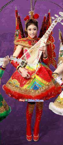 Crystal Music Ensemble Stage Performance Peking Opera Style Costumes