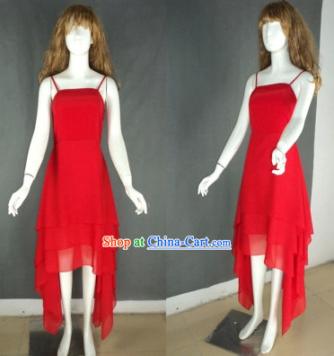 Professional Custom Make Red Modern Dancer Costumes