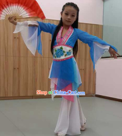 New Design Classical Dancing Costumes and Headdress Complete Set for Kids