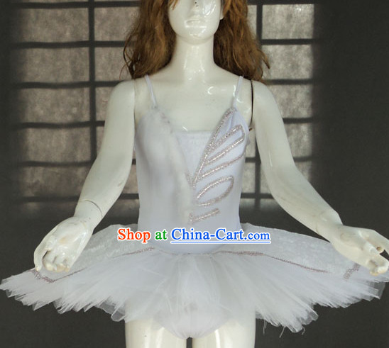 Pure White Angel Wings Ballet Dance Tutu Skirt