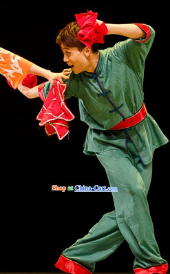 Mandarin Handkerchief Male Dance Costumes