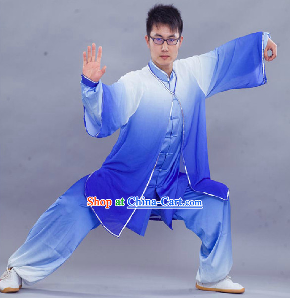 Traditional Silk Kung Fu Uniform and Cape