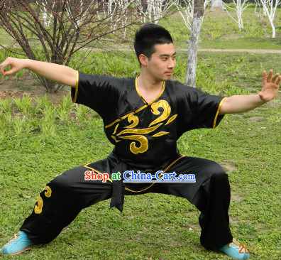 Top Short Sleeves Taiji Wushu Clothing