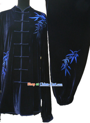 Winter Wear Tai Chi Martial Arts Velvet Outfits