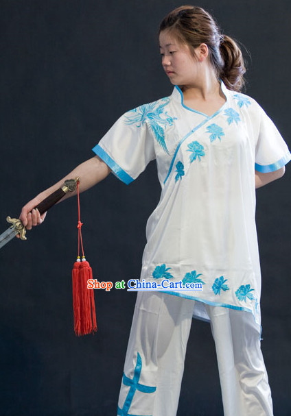 Top Silk Dragon Spirit Kung Fu Dresses
