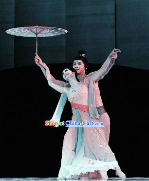 Professional Stage Performance Solo Umbrella Classical Dancing Suit
