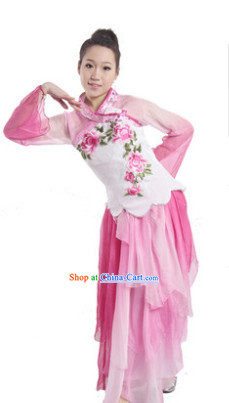 Folk Chinese Peach Dance Costumes