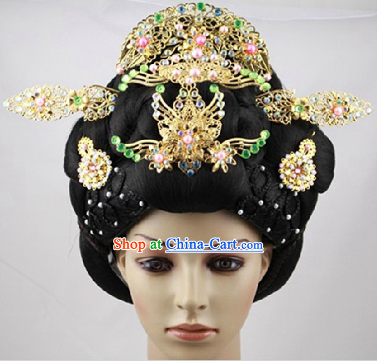 Ancient Chinese Imperial Palace Lady Wig and Hair Accessories