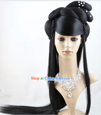 Ancient Traditional Chinese Long Black Wig for Women