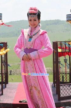 Chinese Costume Period of the Northern and Southern Dynasties Hua Mulan Legend Mongolian Tribe Princess Clothes Complete Set for Women