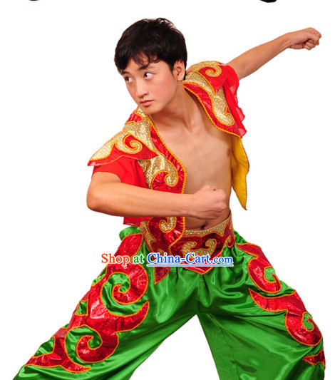 China Festival Celebration Dance Suit for Men