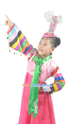Korean Group Dance Costumes and Hat for Children
