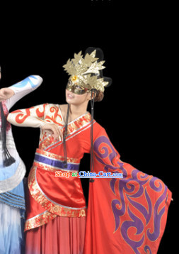 Professional Stage Performance Hanfu Costumes and Headwear for Women
