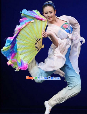 Professional Stage Performance or Competition Silk Dance Fan