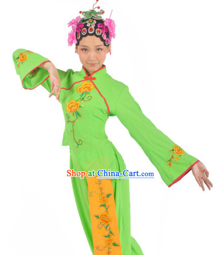 Professional Stage Performance Fan Dance Wear