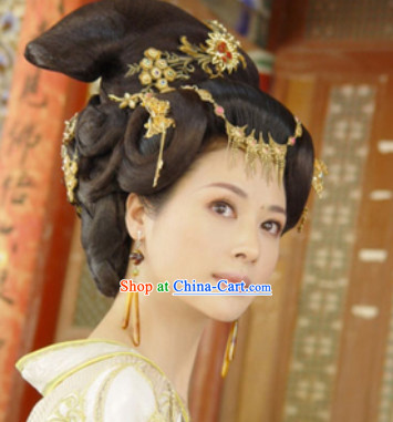 Ancient Chinese Tang Dynasty Wig and Headpieces
