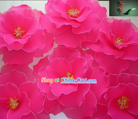 Big Handmade Peony Dance Props Decorations