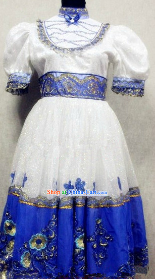 Russia Traditional Stage Performance Dance Costumes