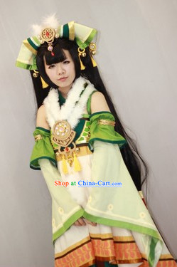 Gu Jian Qi Tan Lengend of the Ancient Sword Internet Games Swordwoman Costumes Complete Set