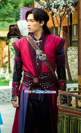 Gu Jian Qi Tan Lengend of the Ancient Sword TV Drama Male Costumes Complete Set