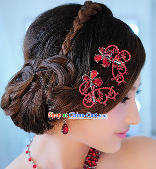 Romantic Red Hair Accessories
