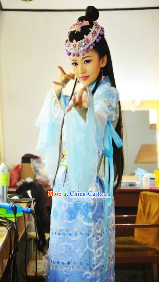 Ancient Chinese Blue Fairy Costumes