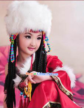 China Tibetan Kids Princess Dresses and Hat