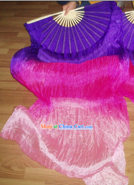Professional Stage Performance Long Silk Dancing Ribbon Fan