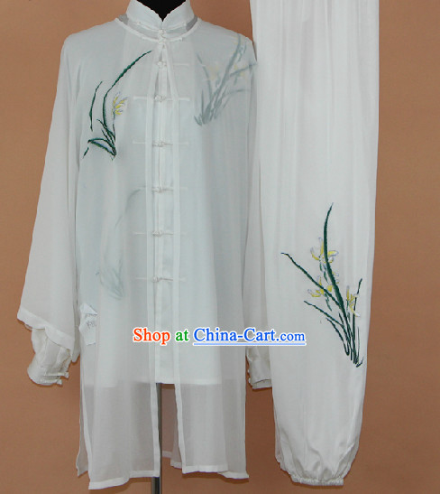 Traditional Chinese Silk Taiji Martial Arts Suit Complete Set