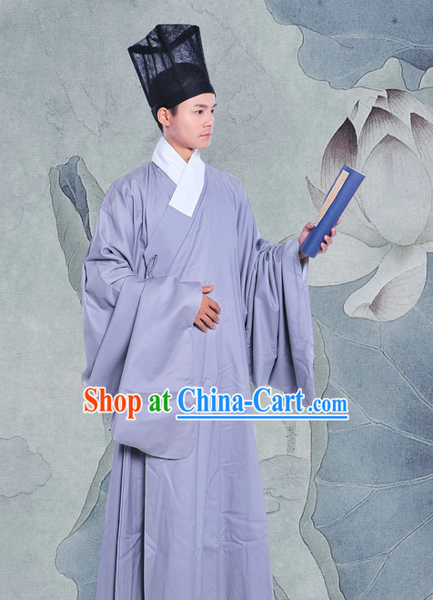 Daopao Xingyi Normal Wear Changfu Clothes and Hat of Men