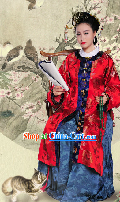 Ancient Chinese Red Wedding Dress for Women