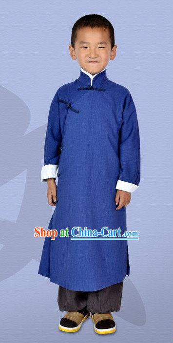 Chinese Classical Long Mandarin Robe for Kids