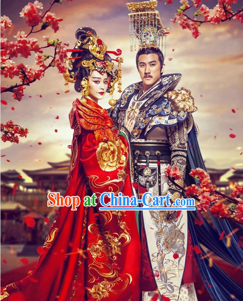 Tang Dynasty Imperial Female Emperor Wu Zetian Clothing Dresses Set