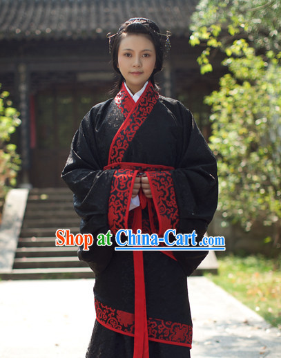 Chinese Traditional Quju Hanfu Outfit for Girls