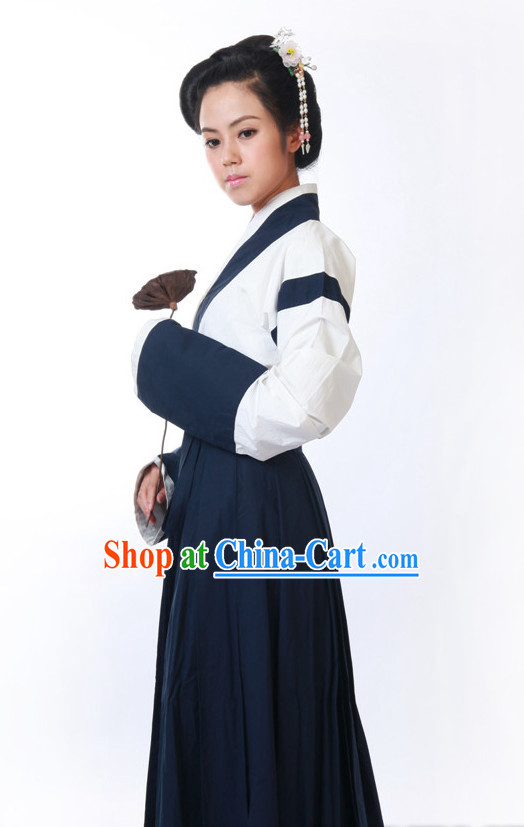 Chinese Classical Costume and Headwear for Girls