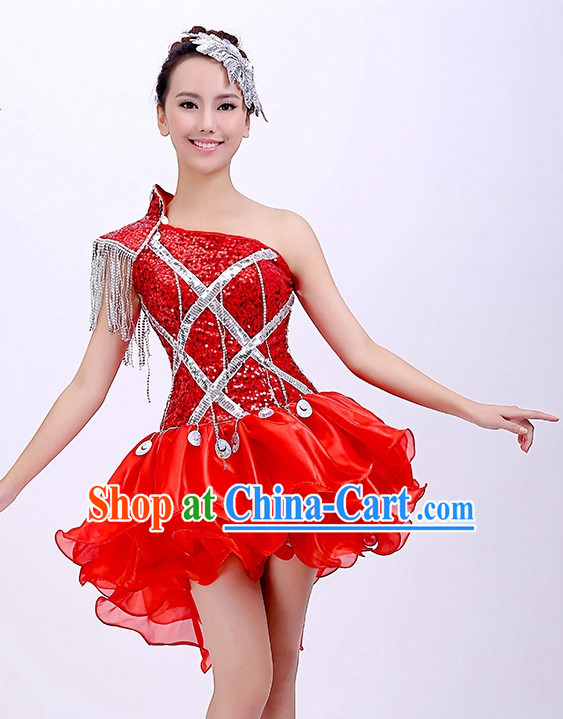 Chinese Dancing Outfits and Headwear for Girls