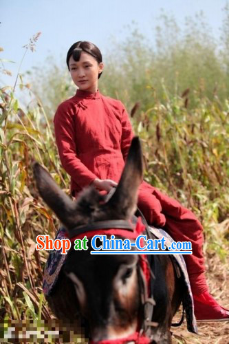 Chinese Red Sorghum Tv Series Costume for Women