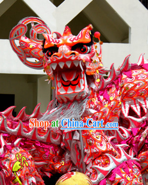 Chinese Traditional Southern Luminous Dragon Dance Costumes Complete Set