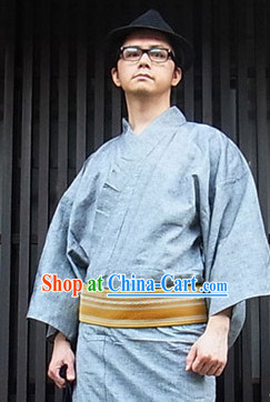 Japanese Summer Yukata with Obi for Men