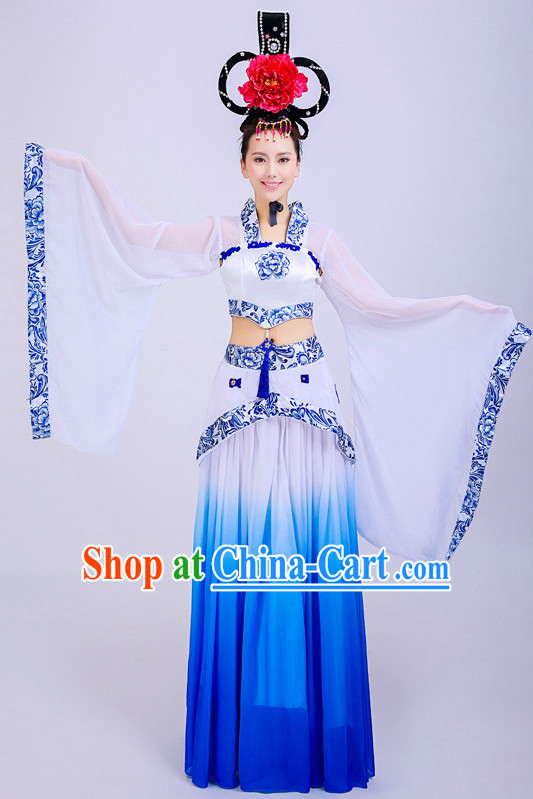 Chinese Classical Dane Attire and Hat Complete Set