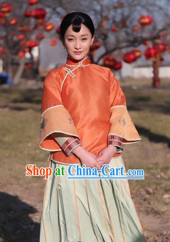 Chinese Red Sorghum TV Drama Series Folk Clothing for Women