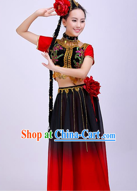 Chinese Folk Dancing Costume for Women