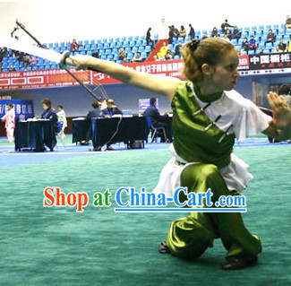 Top Martial Arts Kung Fu Competition Silk Uniform