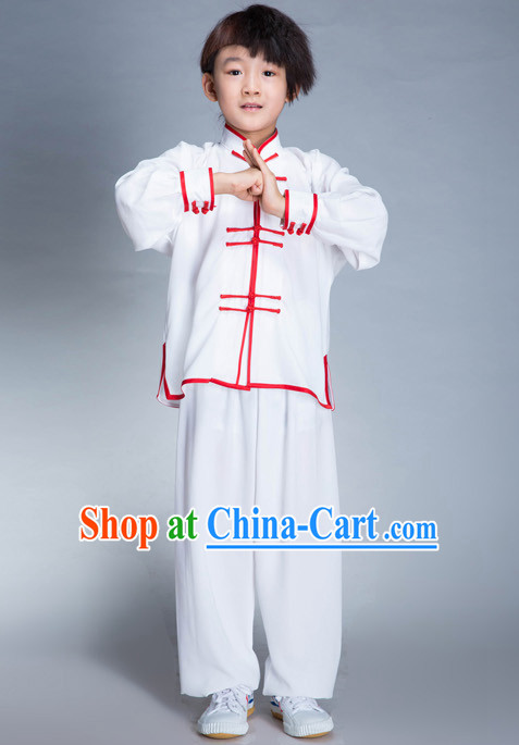 Traditional Martial Arts Silk Uniforms for Children