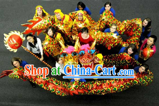 High School Chinese New Year Beijing Dragon Mascot Costume Complete Set