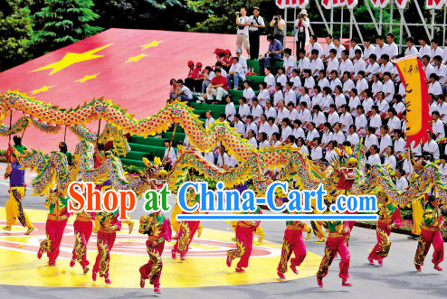 Handmade Chinese New Year Adult Dragon Dance Equipment Complete Set